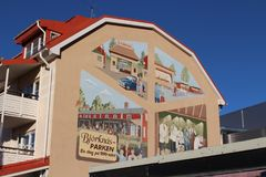 Wall painting in Boden. A wall painting in the Boden with motif from Björknäsparken Stock Image