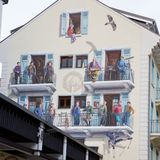 Wall painting in Chamonix, French Alps Royalty Free Stock Photo