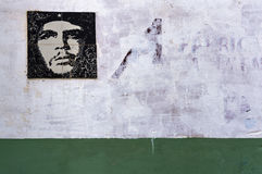 Wall painting of Che Guevara in Havana, Cuba Stock Photo