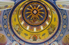 Wall painting on the dome of a church in Lvov Royalty Free Stock Photos