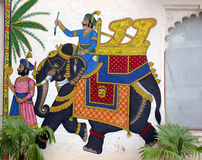 Wall painting of Elephant royalty free stock image