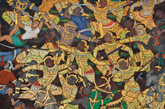 Wall painting at Grand Palace Royalty Free Stock Photos