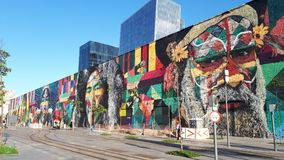 Wall painting by Kobra. Rio de Janeiro - Brazil Royalty Free Stock Photography