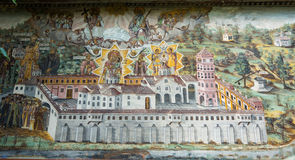 Wall painting in the monastery Bachkovski royalty free stock images