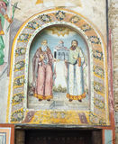 Wall painting in the monastery Bachkovski royalty free stock photography