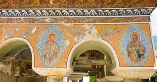Wall painting in the monastery Bachkovski royalty free stock photo