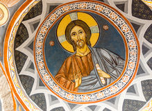 Wall painting in Monastery Rezevici in Montenegro Stock Images