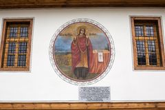 Wall painting at the old church of Sveti Nedelya in Plovdiv city, Bulgaria Stock Images
