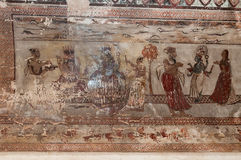 Wall painting in Raj Mahal palace in Orchha Stock Images