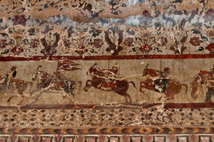 Wall painting in Raj Mahal palace in Orchha Stock Photography