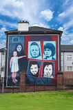 Wall Painting Roads in Derry (LondonDerry) Stock Photography