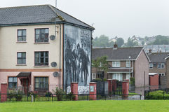 Wall Painting Roads in Derry (LondonDerry) Stock Photo
