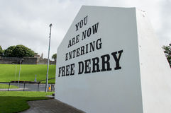 Wall Painting Roads in Derry (LondonDerry) Stock Photos