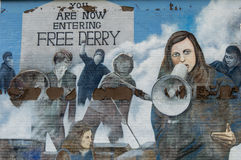 Wall Painting Roads in Derry (LondonDerry) Stock Images