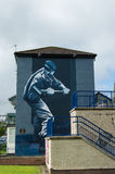 Wall Painting Roads in Derry (LondonDerry) Royalty Free Stock Images