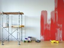 Wall painting, room repair. 3d illustration vector illustration