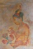 Wall painting of Sigiriya woman Stock Image