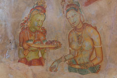 Wall painting of Sigiriya woman Royalty Free Stock Image