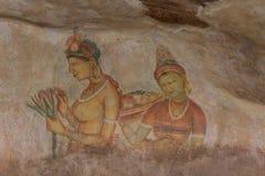 Wall painting of Sigiriya woman Royalty Free Stock Photos