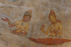 Wall painting of Sigiriya woman Stock Images