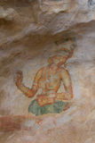 Wall painting of Sigiriya woman Royalty Free Stock Photography