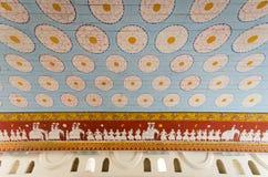 Wall painting at Sri Dalada Maligawa. Decorative Wall painting at Sri Dalada Maligawa Stock Photography