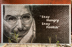 Wall painting of Steve Job. Stock Photography