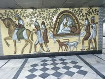 Wall Painting at the time of British Empire stock photo