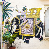 Wall painting in Udaipur Royalty Free Stock Photo