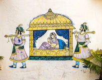 Wall painting in Udaipur Stock Photography