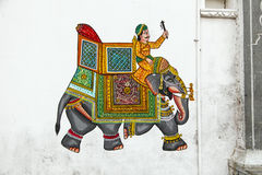 Wall painting in Udaipur at a local house Royalty Free Stock Photos