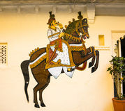 Wall painting in Udaipur at a local house Stock Photo