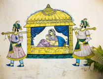 Wall painting in Udaipur at a local house Stock Photography