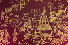 Temple Wall Painting - Chiang Mai - Thailand Stock Photography