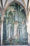 Wall painting Zurich, Cloister Fraumuenster. Wall painting Cloister Fraumuenster, Zurich, Switzerland royalty free stock images