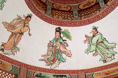 Wall paintings stock images
