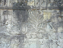 Wall paintings of Angkor. Cambodia Royalty Free Stock Photography