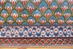 Wall paintings in the Chandra Mahal, Jaipur City Palace. In Jaipur, Rajasthan, India Royalty Free Stock Photo