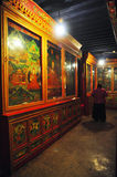 Wall Paintings in Drepung Monastery Stock Photos