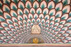 Wall paintings at Jaipur City Palace Stock Image