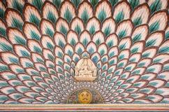Wall paintings at Jaipur City Palace Stock Image