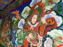 Wall paintings at Lamayuru Monastery Royalty Free Stock Images