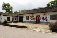 Wall paintings painted farm house. Photographed in Mianzhu. Royalty Free Stock Photos