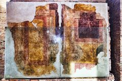 Wall paintings of a room in the House of Diana - Ostia Antica Stock Photo