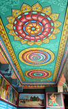 WALL PAINTINGS IN TEMPLE Royalty Free Stock Images