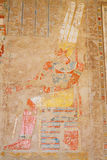 Wall Paintings. Temple of Hatshepsut. Egypt Stock Photo