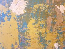 Wall in paints. The wall is covered with paints Royalty Free Stock Photography