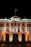 Wall of palace at night Royalty Free Stock Images