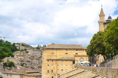 wall of Palazzo Ducale in Urbino Stock Image