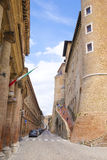 Wall of Palazzo Ducale in Urbino Royalty Free Stock Photo